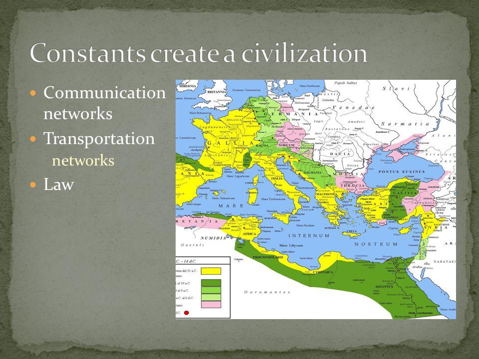 Constants create a civilization