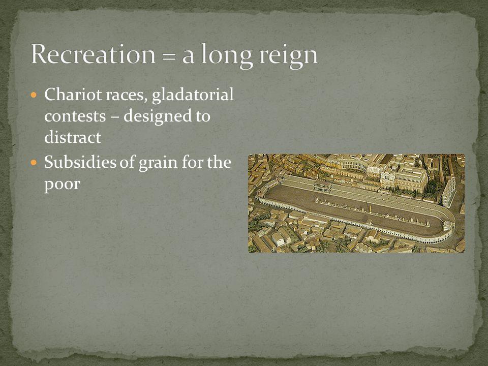 Recreation = a long reign