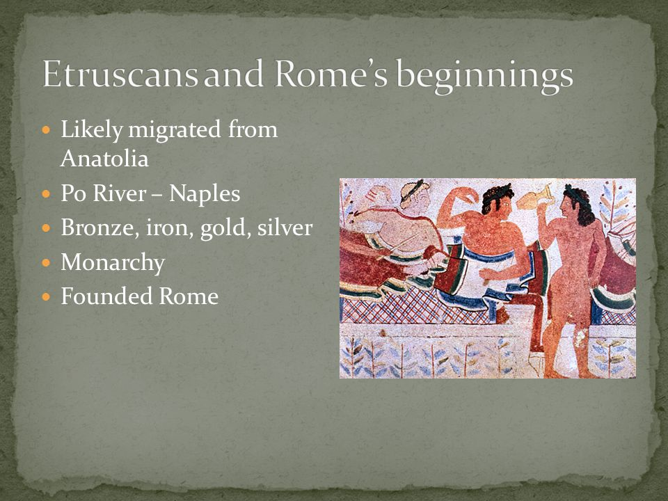 Etruscans and Rome's beginnings