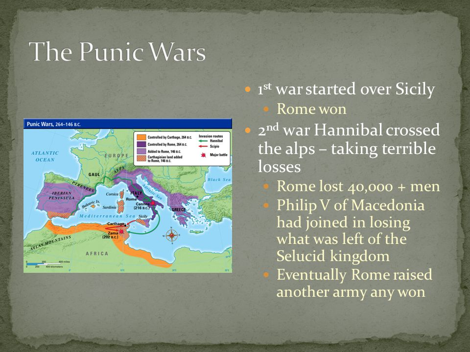 The Punic Wars 1st war started over Sicily