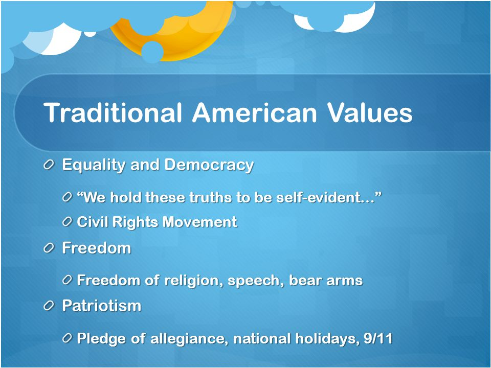 Traditional American Values