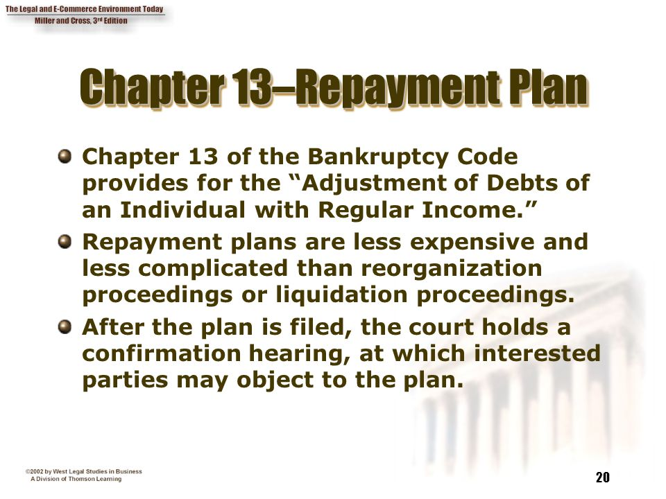 Chapter 13–Repayment Plan