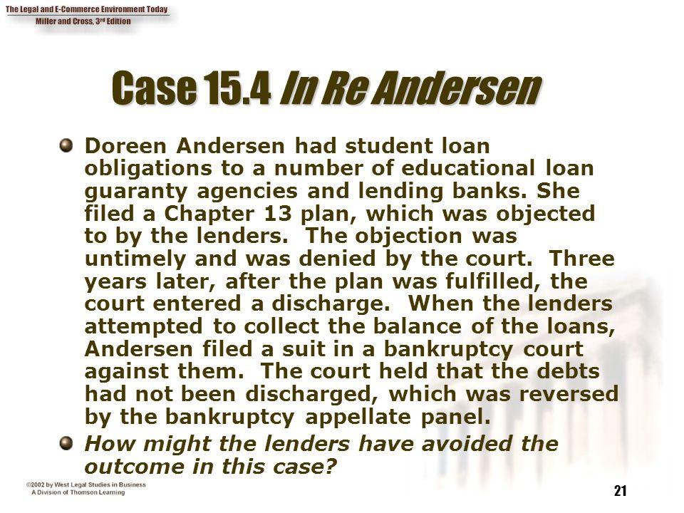 Case 15.4 In Re Andersen