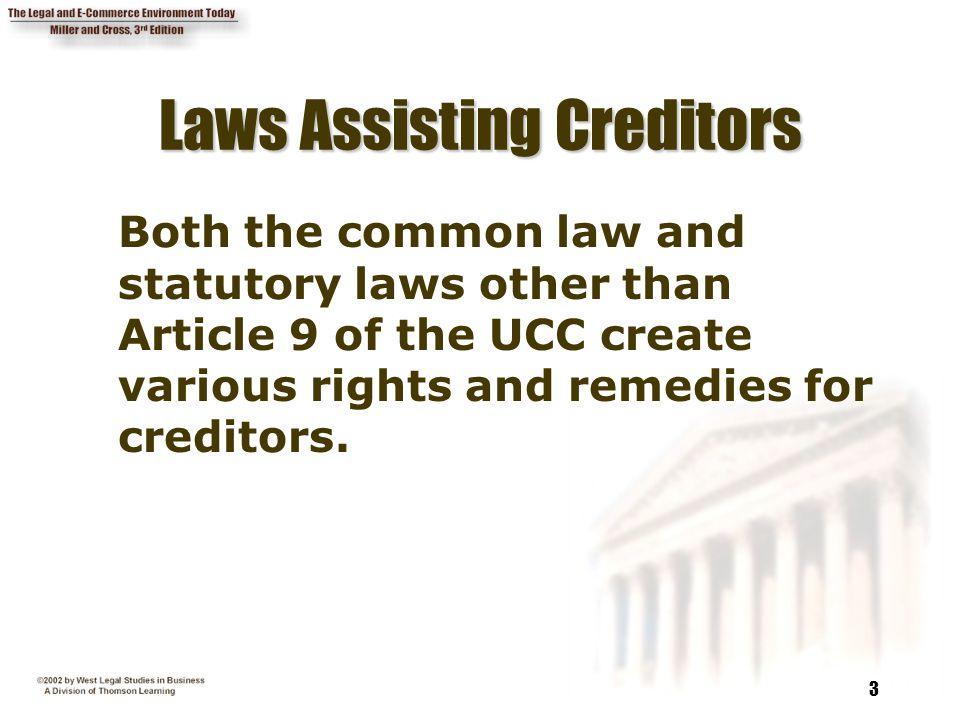Laws Assisting Creditors