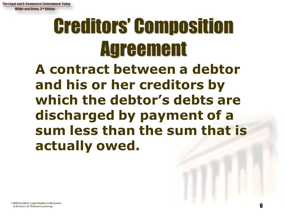 Creditors' Composition Agreement