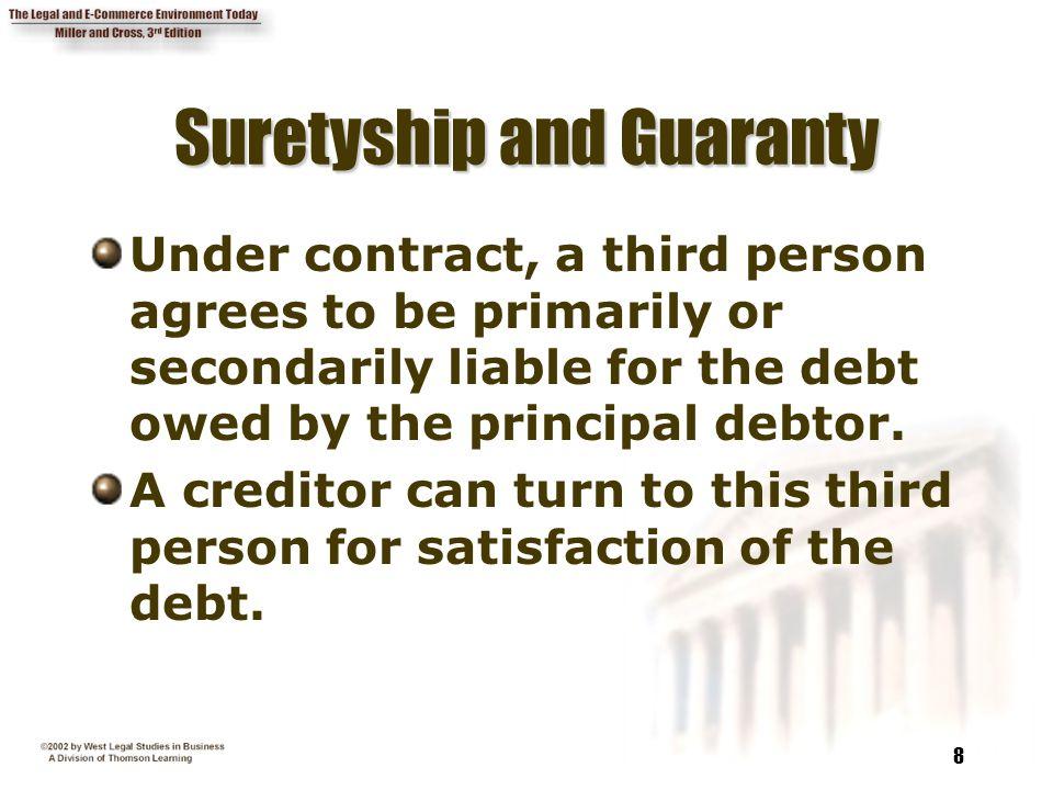 Suretyship and Guaranty