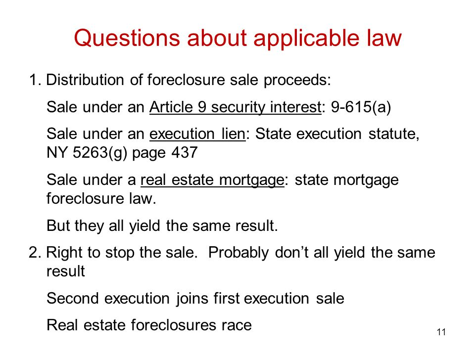 Questions about applicable law
