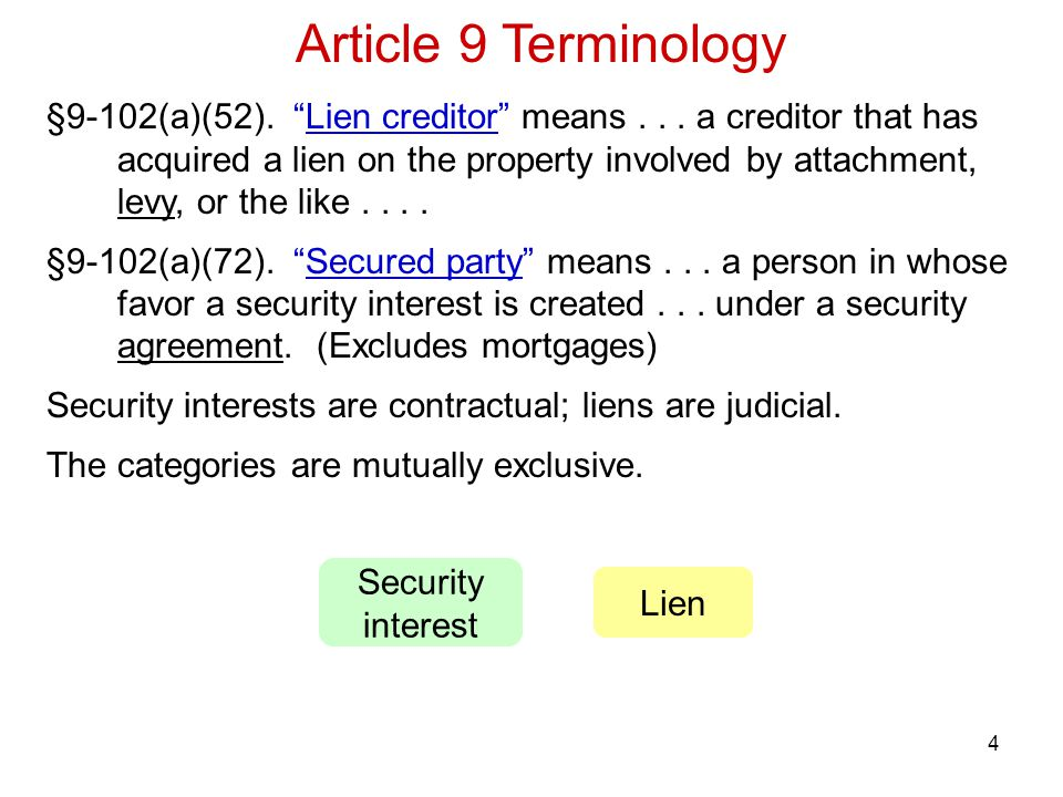 Article 9 Terminology