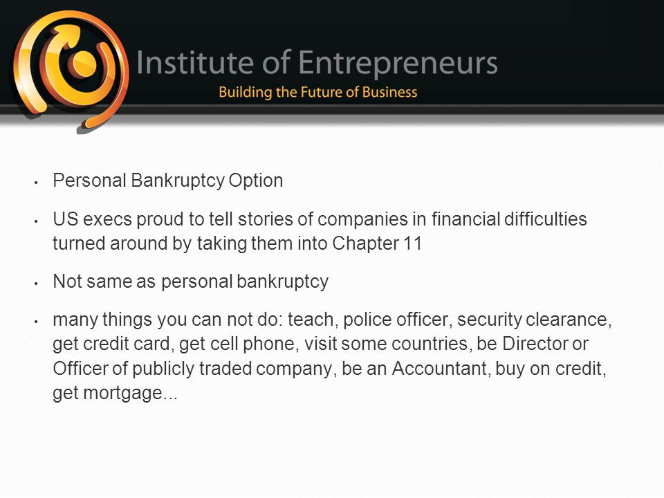 Personal Bankruptcy Option