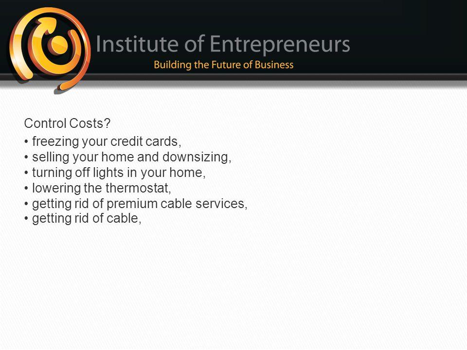 Control Costs