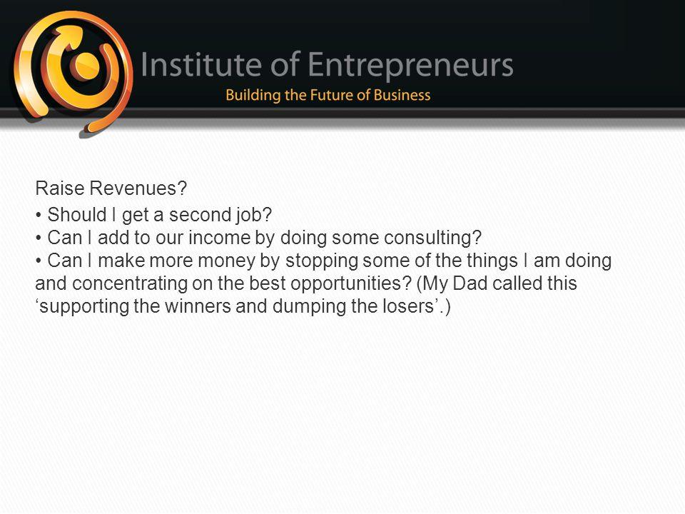 Raise Revenues