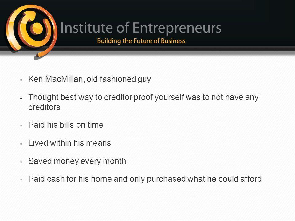 Ken MacMillan, old fashioned guy