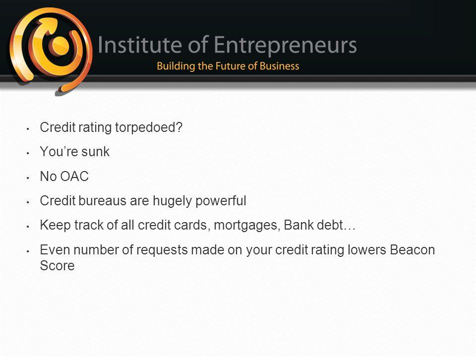 Credit rating torpedoed