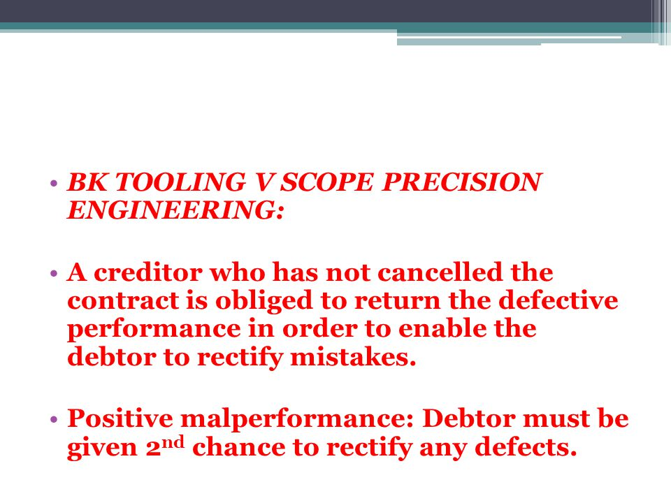 BK TOOLING V SCOPE PRECISION ENGINEERING: