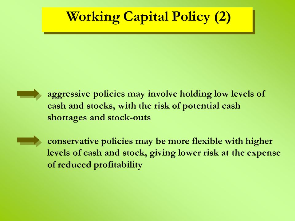 Working Capital Policy (2)
