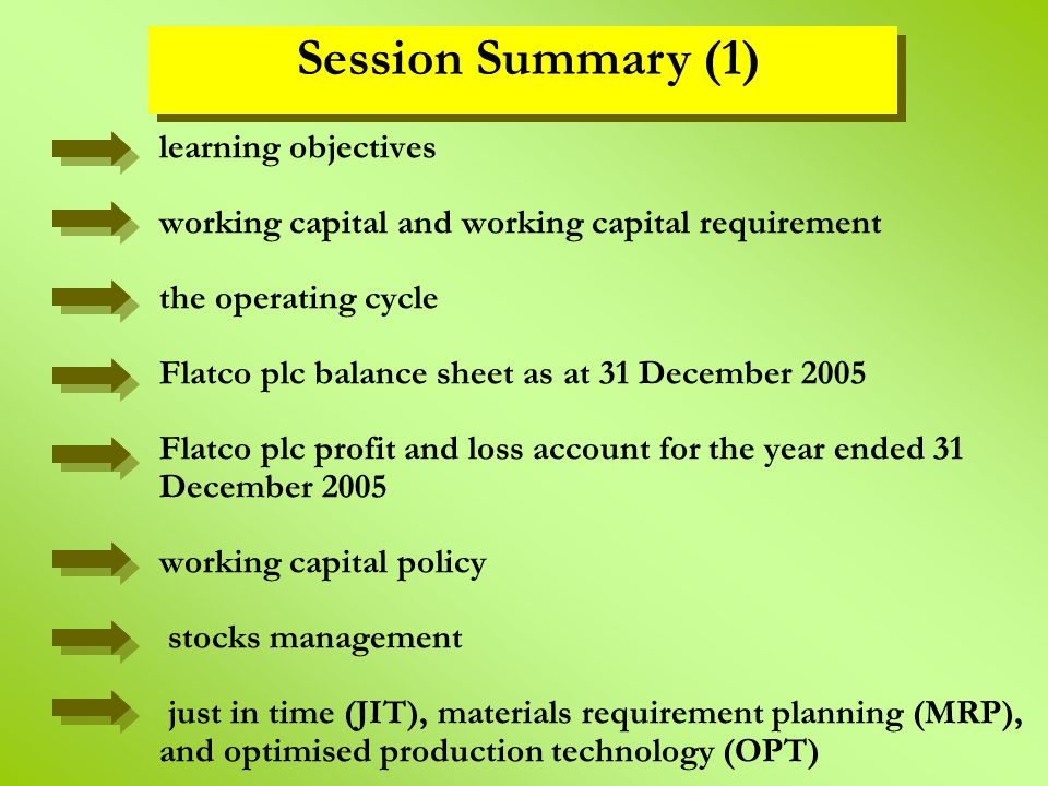Session Summary (1)