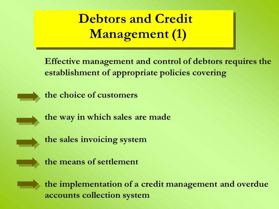 Debtors and Credit Management (1)