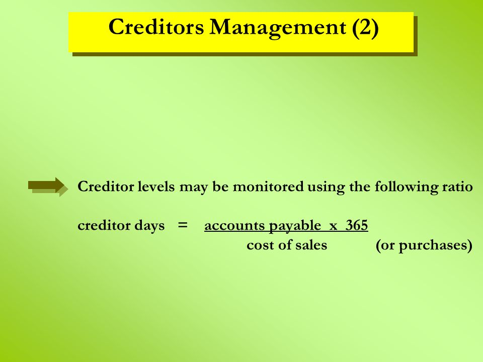 Creditors Management (2)