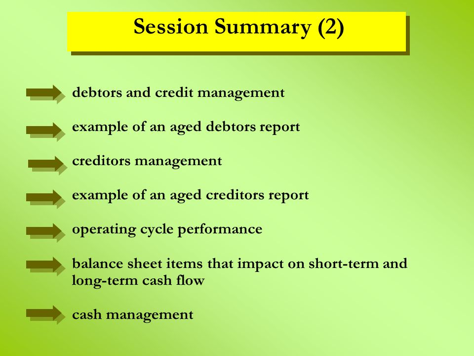 Session Summary (2)