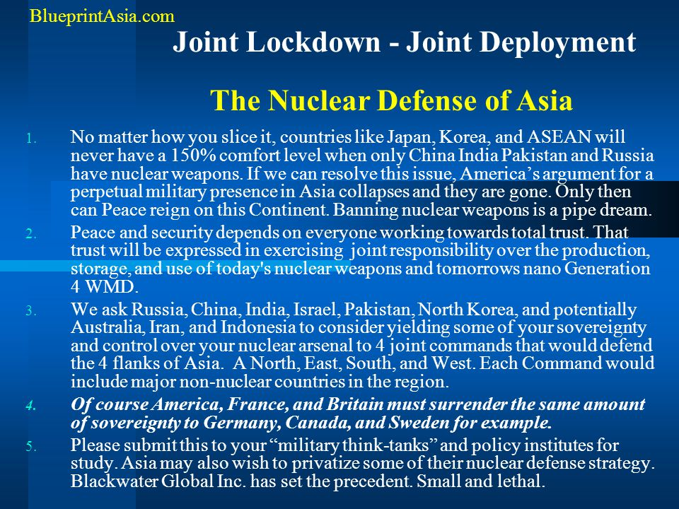 The Nuclear Defense of Asia