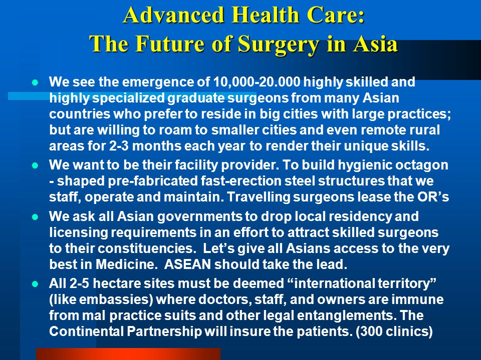 Advanced Health Care: The Future of Surgery in Asia