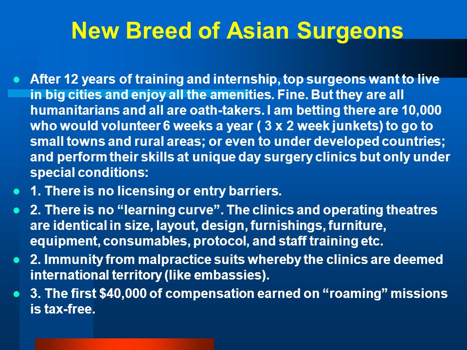 New Breed of Asian Surgeons