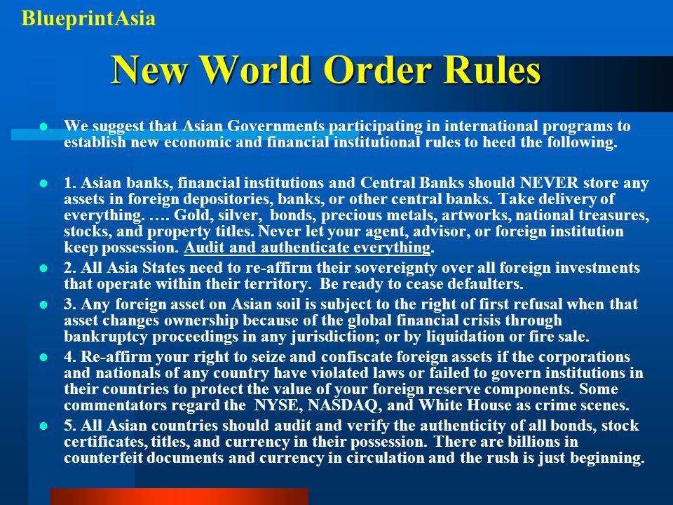 New World Order Rules BlueprintAsia