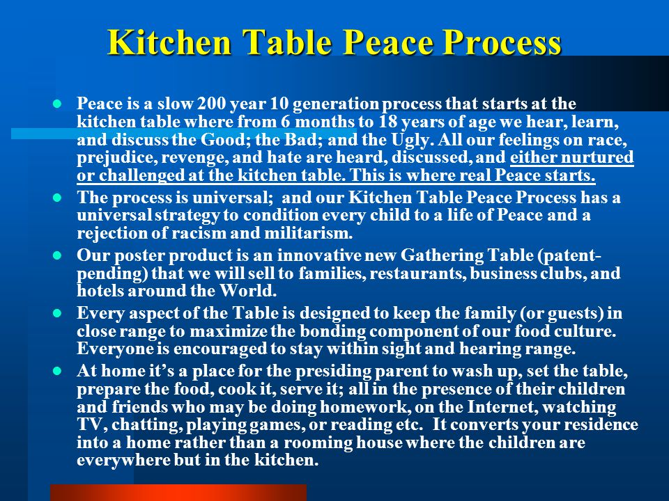 Kitchen Table Peace Process