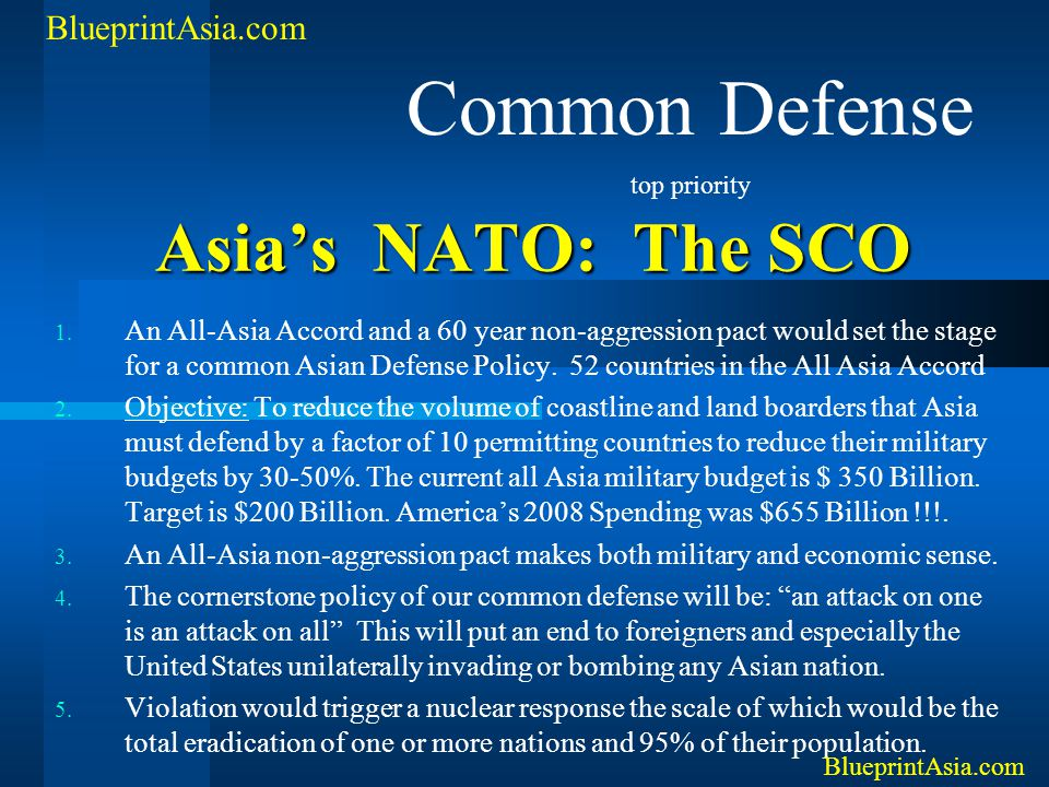 Common Defense Asia's NATO: The SCO BlueprintAsia.com