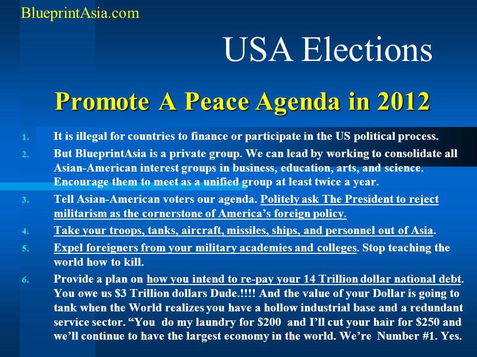 Promote A Peace Agenda in 2012