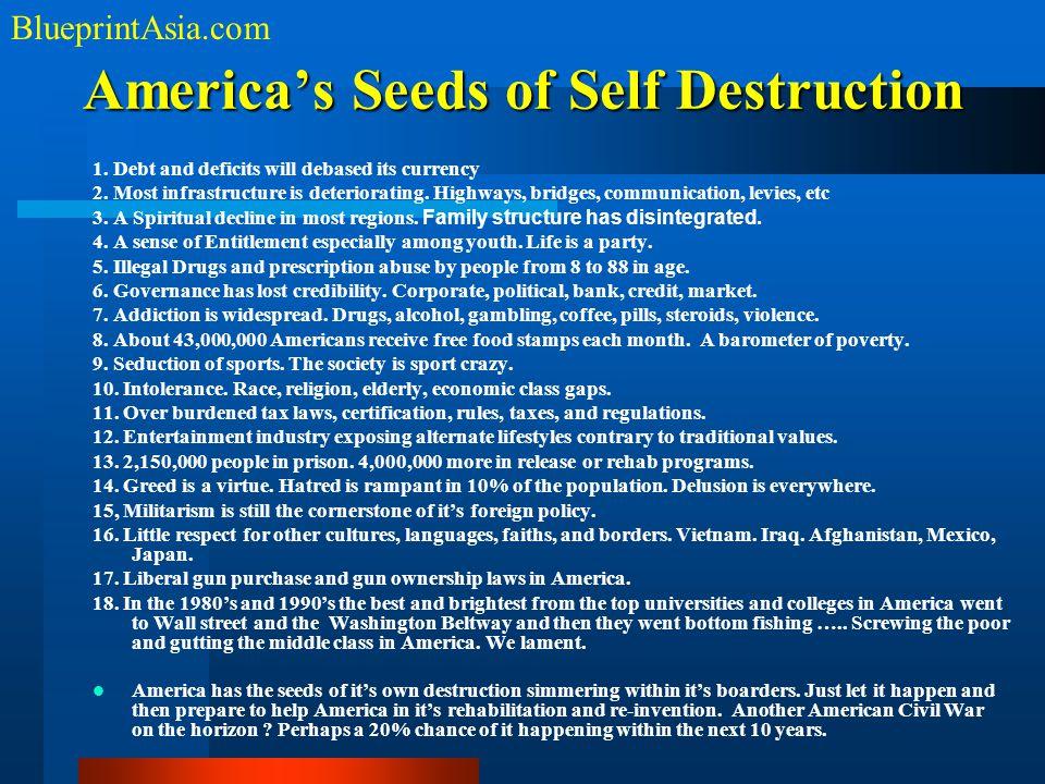 America's Seeds of Self Destruction