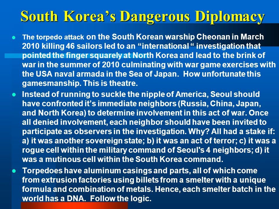 South Korea's Dangerous Diplomacy