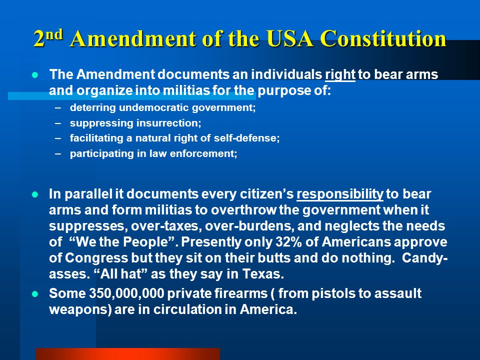 2nd Amendment of the USA Constitution