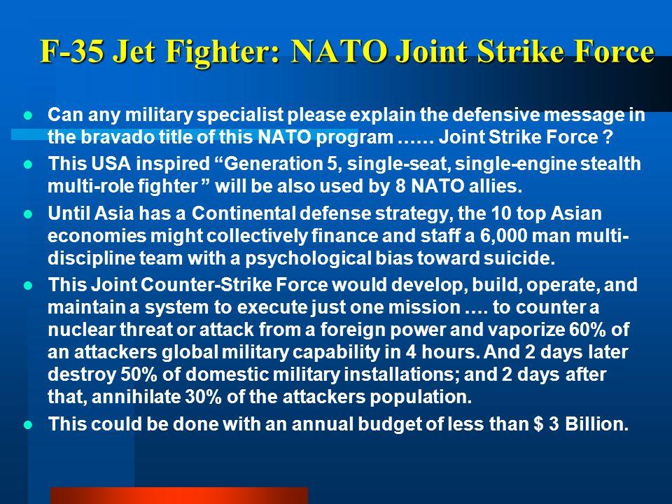 F-35 Jet Fighter: NATO Joint Strike Force
