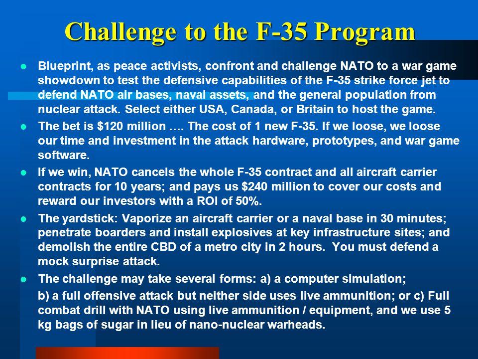 Challenge to the F-35 Program