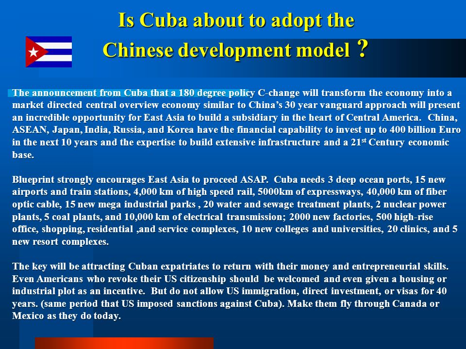 Is Cuba about to adopt the Chinese development model