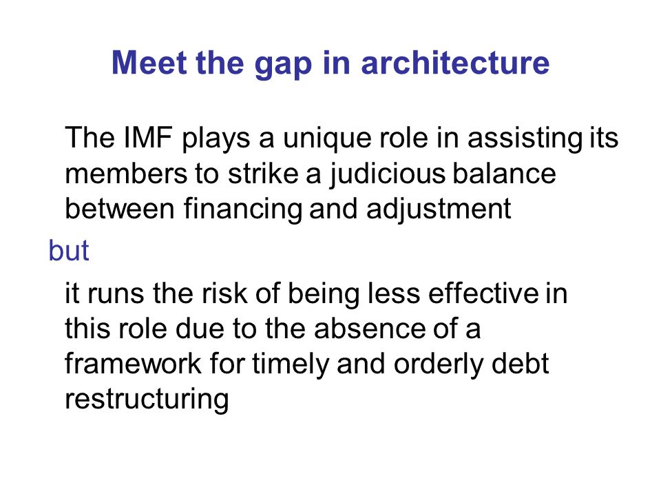 Meet the gap in architecture