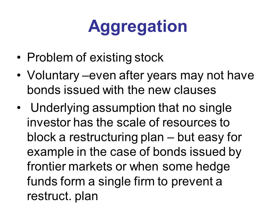 Aggregation Problem of existing stock