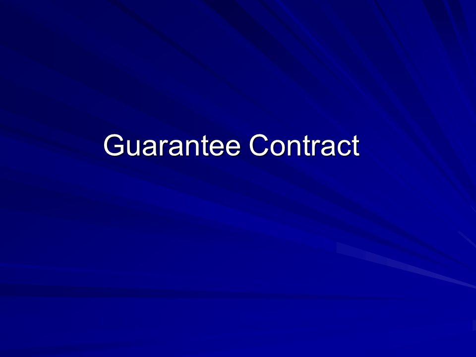 Guarantee Contract