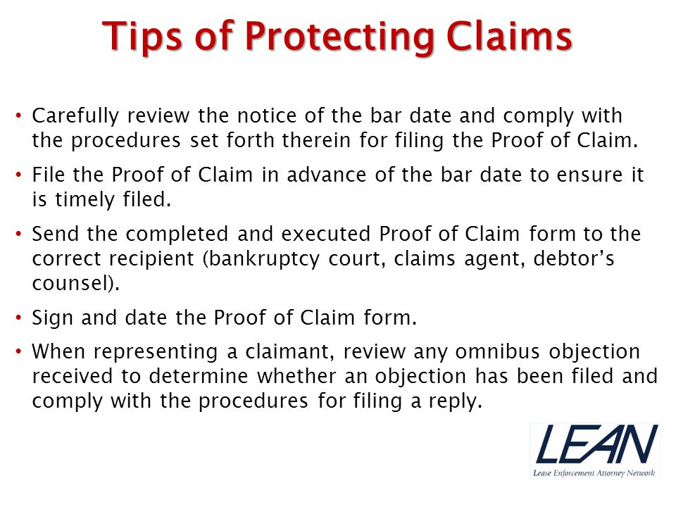 Tips of Protecting Claims