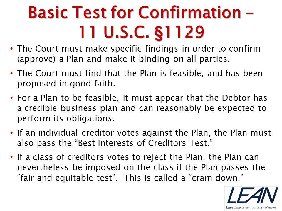 Basic Test for Confirmation –