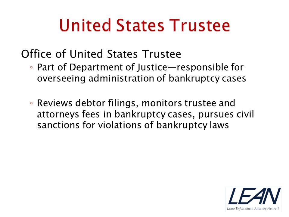 United States Trustee Office of United States Trustee