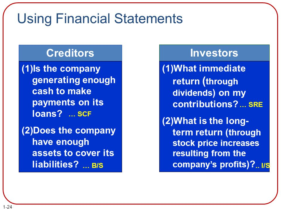 Using Financial Statements