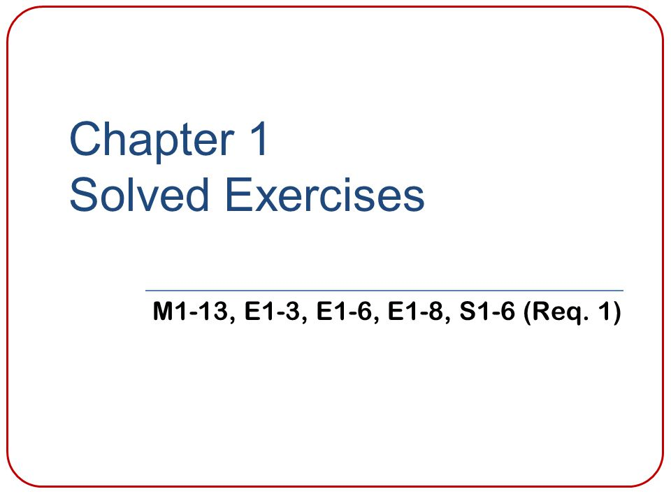 Chapter 1 Solved Exercises
