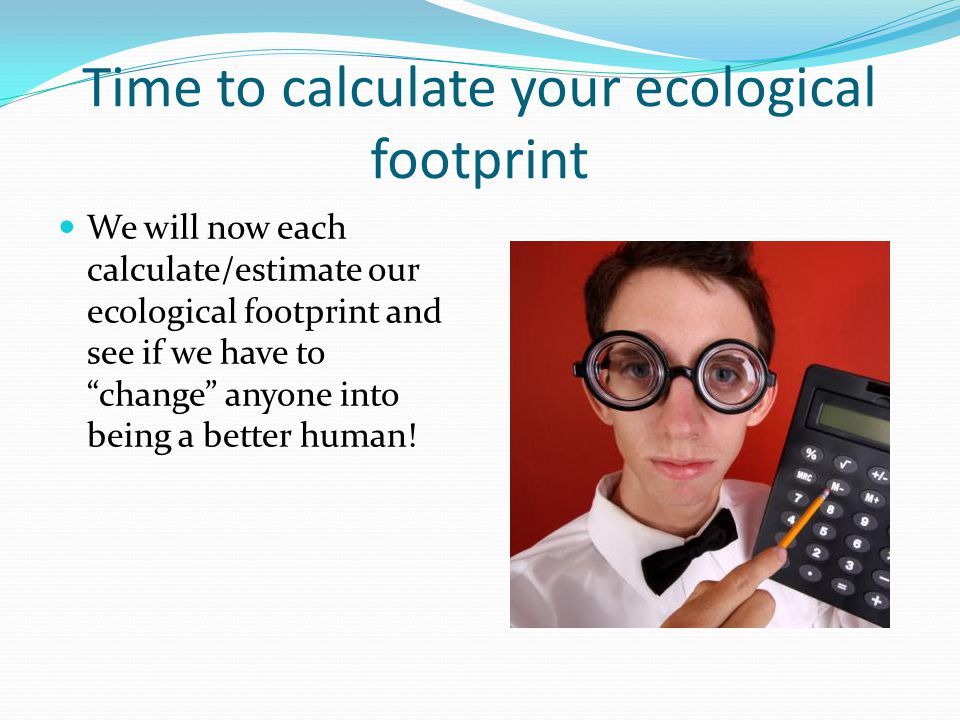Time to calculate your ecological footprint