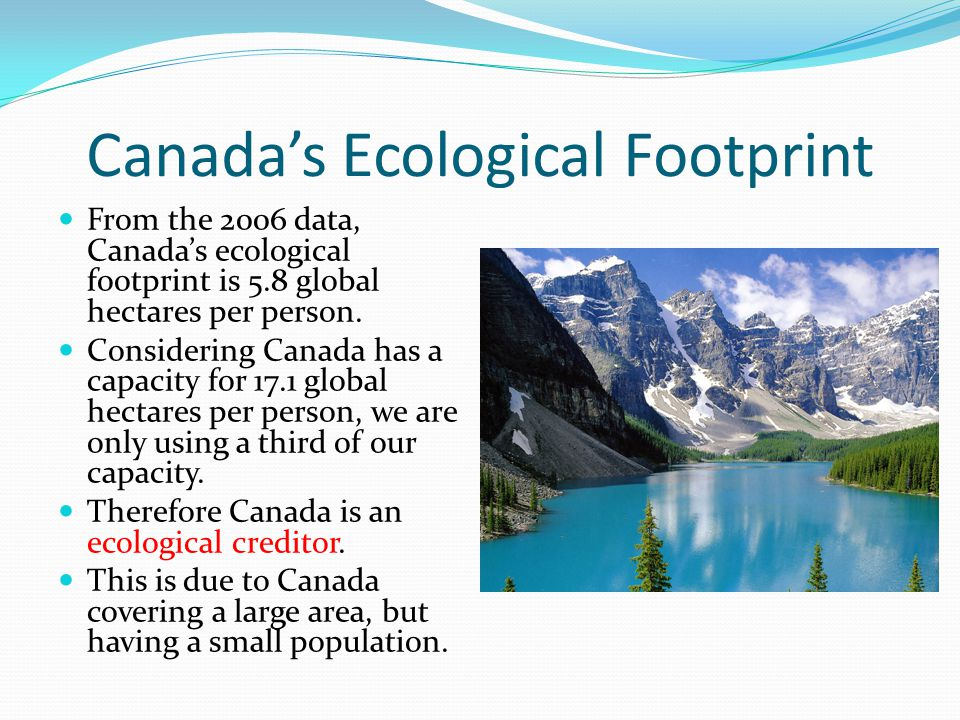 Canada's Ecological Footprint