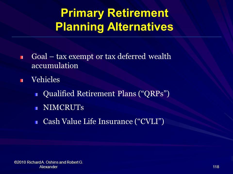 Planning Alternatives
