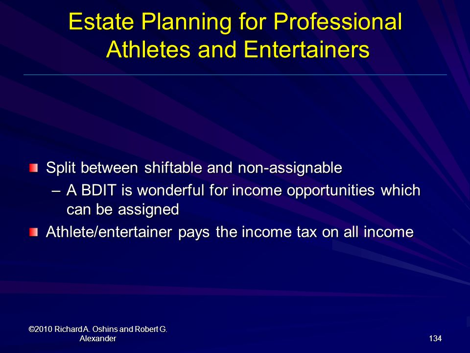 Estate Planning for Professional Athletes and Entertainers