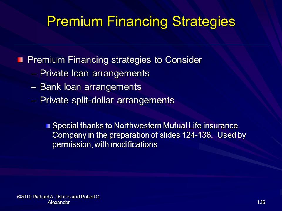 Premium Financing Strategies