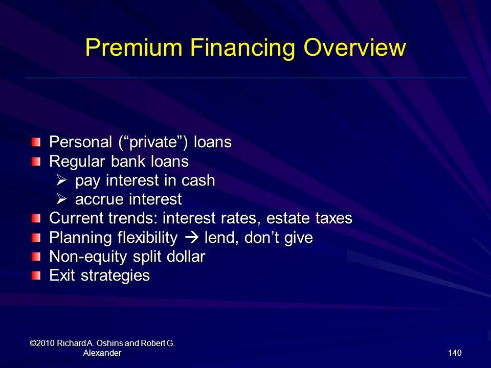 Premium Financing Overview